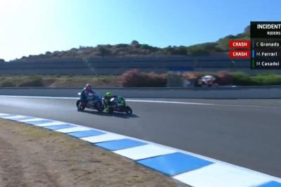 Huge MotoE™ drama as Ferrari wipes out Granado