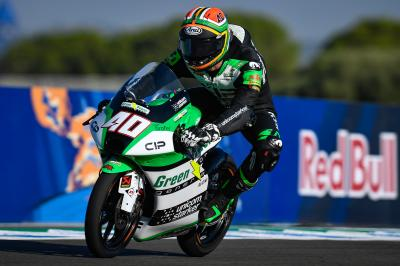 GP d'Andalousie : Binder réagit au warm-up Moto3™