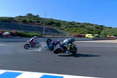 Granado and Ferrari explain that MotoE™ crash in Andalucia