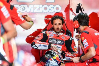 Dovizioso, con 'mejor 'feeling'' que en Jerez