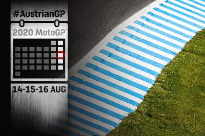 Time schedule: myWorld Motorrad Austrian Grand Prix