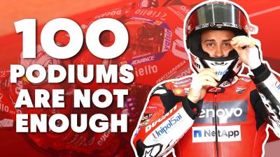 100 podios no son suficientes para Dovizioso