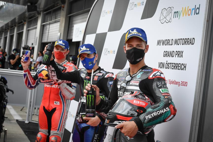 Maverick Vinales, Jack Miller, Fabio Quartararo, myWorld Motorrad Grand Prix von Österreich