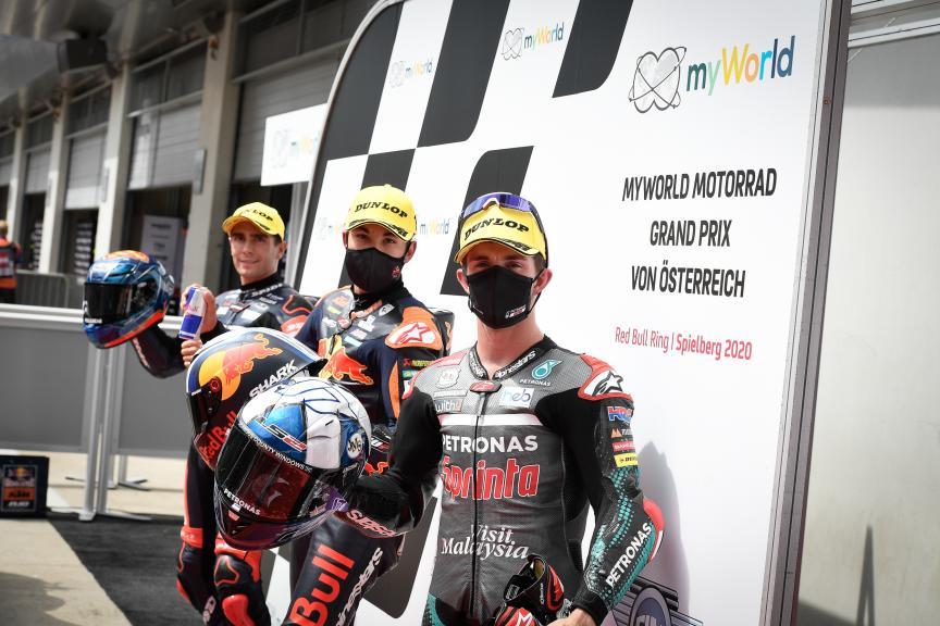Raul Fernandez, Albert Arenas, John Mcphee, myWorld Motorrad Grand Prix von Österreich