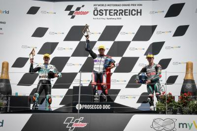 'I fought with all my power' - Moto3™rostrum round-up