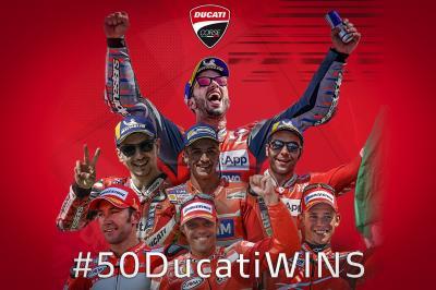Ducati alcanza medio centenar de victorias en MotoGP™