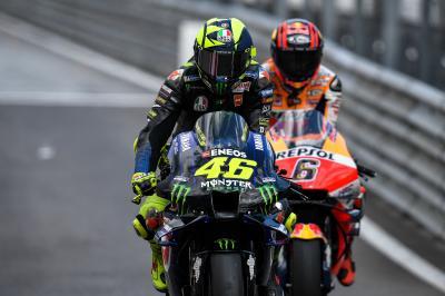 Rossi pide precaución a los pilotos de MotoGP™
