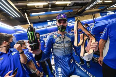 Unseen: Mir savours first MotoGP™ podium