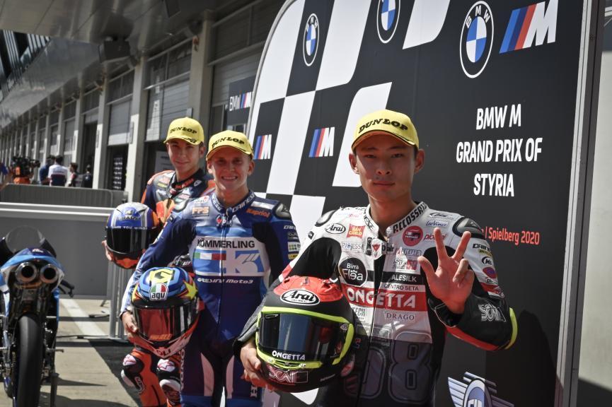 Gabriel Rodrigo, Raul Fernandez, Tatsuki Suzuki, SBMW M Grand Prix of Styria