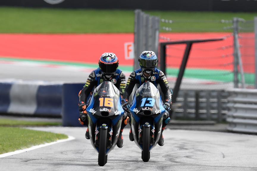 Celestino Vietti, Andrea Migno, SKY Racing Team Vr46, BMW M Grand Prix of Styria