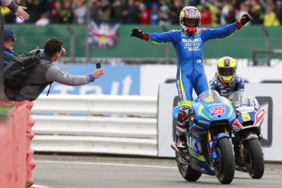 On a day like today: Viñales touches the sky at Silverstone