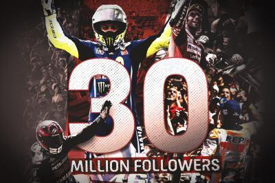 Il MotoGP™ festeggia 30 milioni di appassionati in rete!