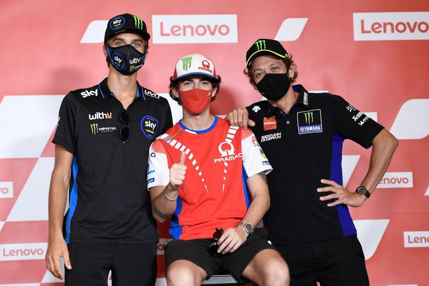 Luca Marini, Francesco Bagnaia, Valentino Rossi, Gran Premio Lenovo di San Marino e della Riviera di Rimini