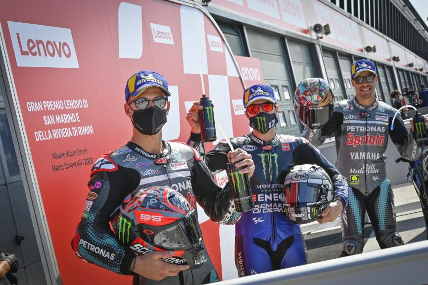 Maverick Vinales, Franco Morbidelli, Fabio Quartararo, Gran Premio Lenovo di San Marino e della Riviera di Rimini