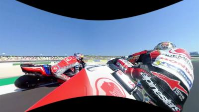 Last lap of the San Marino GP in 360 degrees with Nakagami