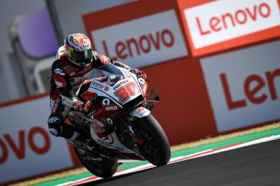 Nakagami holt sich am Sonntagmorgen P1 im MotoGP™ Warm-Up