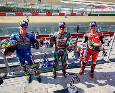 WHAT. A. RACE.  Here's your #SanMarinoGP  podium