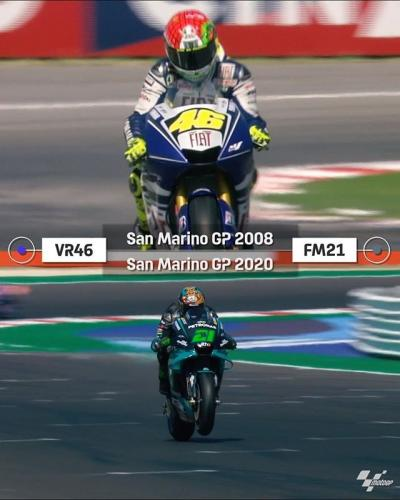 @FrankyMorbido12 emulated @ValeYellow46 by winning the #SanMarinoGP 12 years after