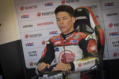 Nakagami gets his first taste of the 2020 Honda RC213V