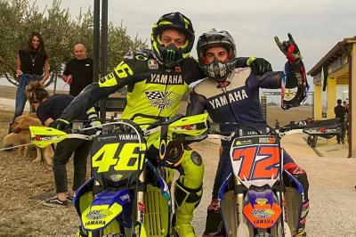 Teammates at The Ranch @valeyellow46 invited @maverick12official for a day