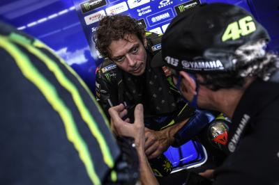 What happened to Rossi on Day 1 of the Emilia Romagna GP?