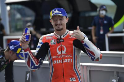 Miller 'completely on the edge' to bag front row start