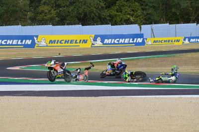 Huge drama in MotoE™ as Granado wipes out Simeon