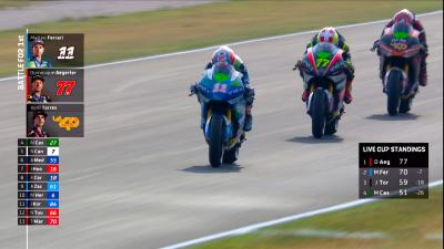 Full MotoE™ last lap as Aegerter goes from third to first!
