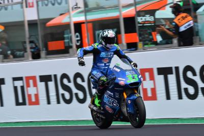 Bastianini wins ten lap dash to slash Marini's title lead