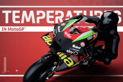 What sort of temperatures does a MotoGP™ bike reach?