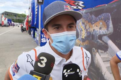 Marc Marquez returns to the MotoGP™ paddock