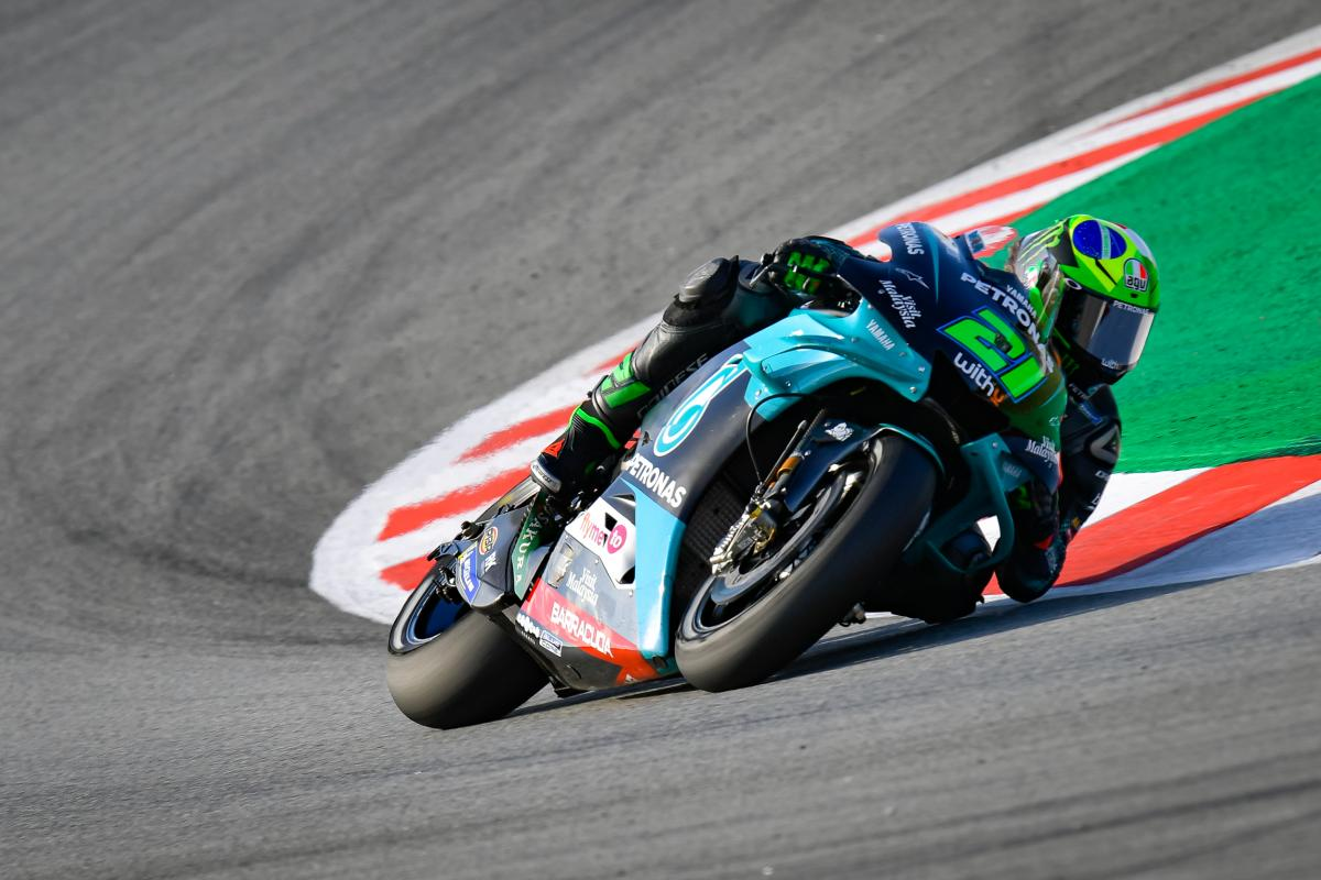 Maiden MotoGP™ pole for Morbidelli, Yamaha lockout front row