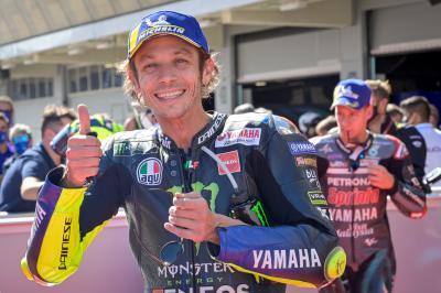 """Rossi feiert """"besonderen Tag"""" mit der ersten Startreihe"""