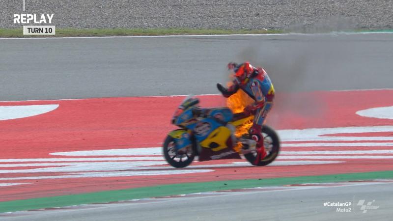 Marini Fastest In Dramatic Moto2 Warm Up Motogp