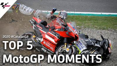 Top 5 MotoGP Moments from the 2020 #CatalanGP