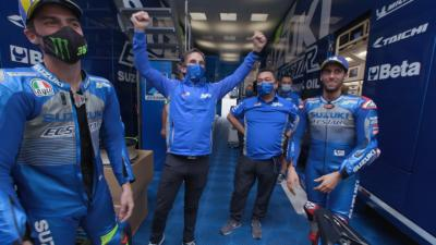 Unseen: How did Suzuki celebrate double podium success?
