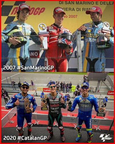 Did you know that @suzukimotogp's double podium at the #CatalanGP
