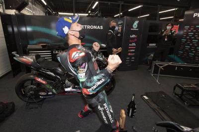 Unseen: So hat das Petronas SRT-Team Fabio's 3.Sieg gefeiert