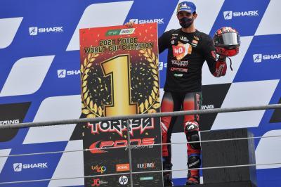 Torres, vainqueur de la Coupe du Monde FIM Enel MotoE™ 2020