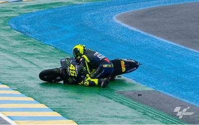 @valeyellow46's race only lasted three corners at Le Mans!