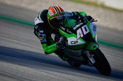 Binder bags top spot in chilly Moto3™ FP1 in Aragon