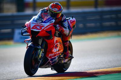Bagnaia rompe el récord de velocidad punta de Aragón