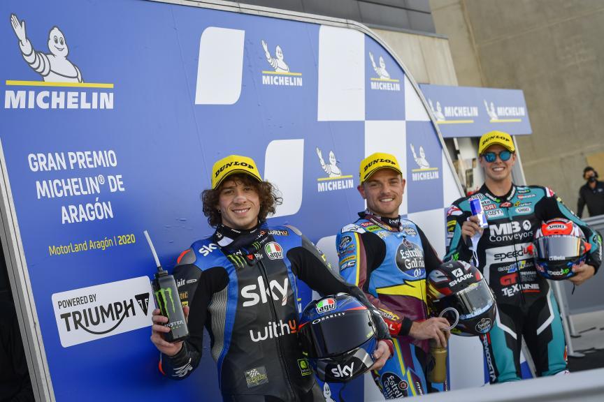 Sam Lowes, Marco Bezzecchi, Fabio Di Giannantonio, Gran Premio Michelin® de Aragón