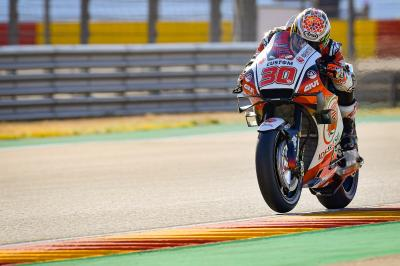 Nakagami sets the pace on Sunday morning
