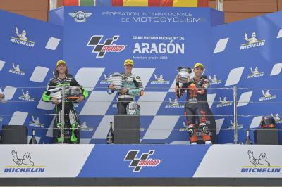 """The last 3 laps, it was chaos"" - Moto3™ Rostrum Round Up"