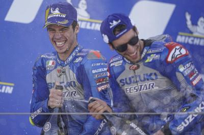 Brivio ecstatic as Suzuki soar to the summit of MotoGP™
