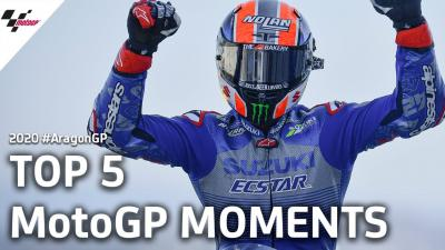 Top 5 MotoGP Moments | 2020 #AragonGP