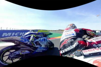 OnBoard 360° : Le départ du GP d'Aragón avec Nakagami