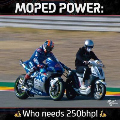 Who needs 250bhp when you have moped power!  @alexrins