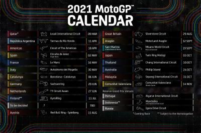 Calendrier 2021 Motogp Découvrez le calendrier provisoire 2021 du MotoGP™ ! | MotoGP™
